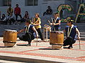 Raijin Taiko performing on Upper Sproul Plaza on Cal Day 2009 4.JPG