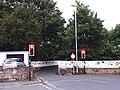 Railway bridge on St Michaels Lane (geograph 6502595).jpg