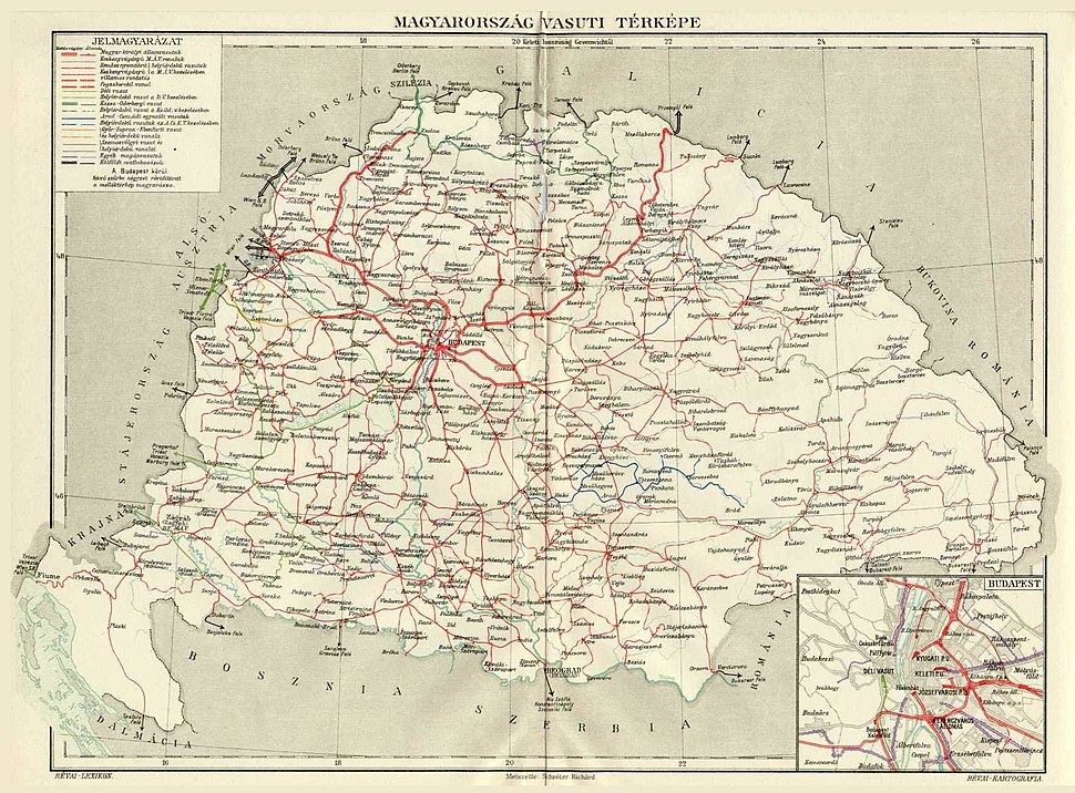 Railways Croatia-Slavonia and Hungary