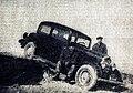 Rallye Monte Carlo 1934, le français Chazel futur 15e sur Peugeot, ici en Grèce avec son mécanicien Vassil Thodorov.jpg