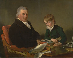 Francis Noel Clarke Mundy - Mundy with his grandson William Mundy. Painting by Ramsay Richard Reinagle.