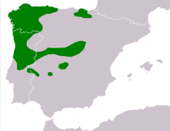 Distribución de la rana patilarga