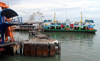Butterworth, Penang - A Rapid Ferry docked at the Sultan Abdul Halim Ferry Terminal.