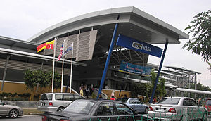 Rasa Komuter station - The main entrance of the Rasa station.