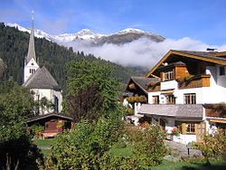 Skyline of Rauris