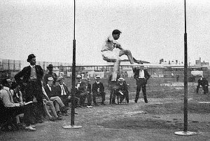 Athletics at the 1904 Summer Olympics – Men's standing high jump - Image: Ray Ewry during 1904 Summer Olympics