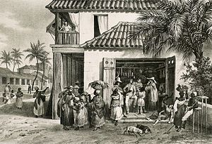 Confederation of the Equator - A street in Recife, capital of Pernambuco, 1820s.