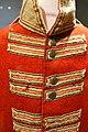 Red coat for 104th Regiment, British, detail, c. 1812, wool, cotton, brass buttons - Cape Ann Museum - Gloucester, MA - DSC01086.jpg