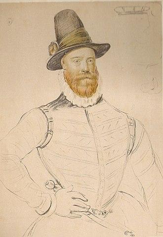 Arnold Bronckorst - Regent Morton c. 1580, by Arnold Bronckorst (drawing)