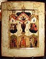 Regione di novgorod, icona dell'ascensionedella madre di dio, 1550-1600 ca.jpg