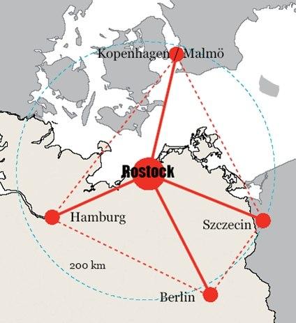 Regiopole Rostock Verflechtungen