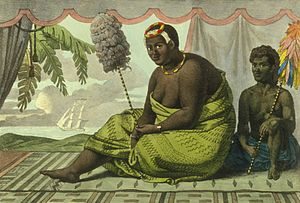 Alexis Bachelot - 1816 painting of Queen Kaʻahumanu, who deported Bachelot from Hawaii in 1831
