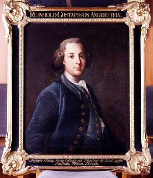 Reinhold Angerstein - Portrait 1755 by Olof Arenius