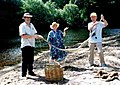 Releasing a Scrub python back to the wild, near Cooktown. 1999.jpg