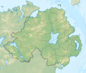 Map showing the location of Ring of Gullion