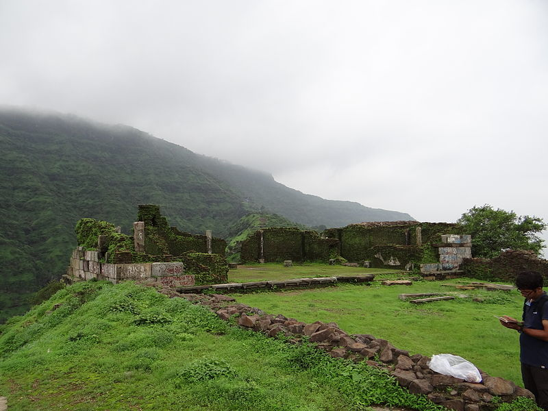 File:Remains of Patai Rawal's (Jai Singh) Palace, Pavagadh.JPG
