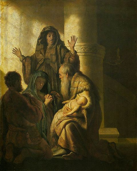 File:Rembrandt - Simeon and Anna Recognize the Lord in Jesus - WGA19102.jpg