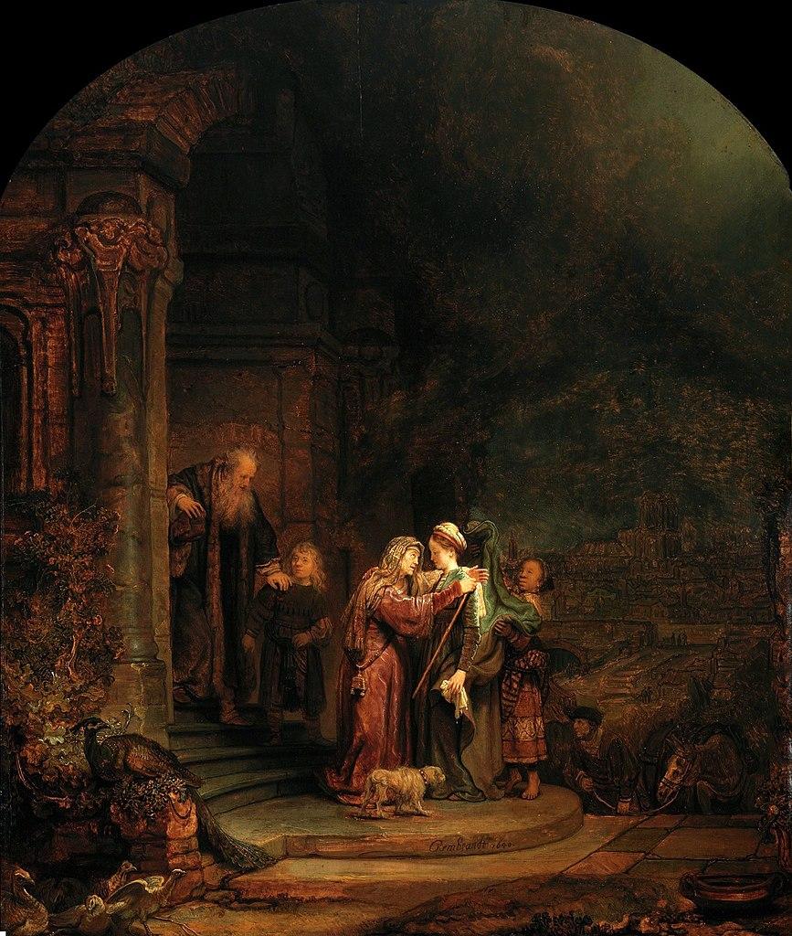 방문 (렘브란트 판 레인, Rembrandt Harmenszoon van Rijn, 1640년)