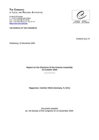File:Report on the Elections of the Kosovo Assembly 23 October 2004 Cgbur 11 74 E public.pdf