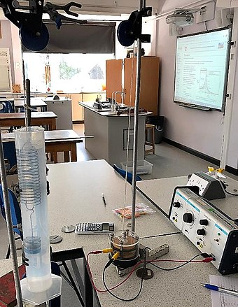 School resonating mass experiment Resonating mass experiment.jpg