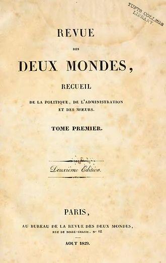 Revue des deux Mondes - Image: Revue des Deux Mondes 1829 tome 1