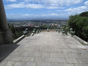 Rhodes Memorial - View to the east, past the statuary.