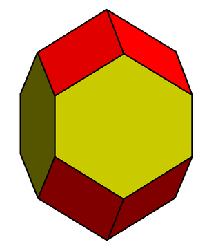 Elongated dodecahedron - Image: Rhombo hexagonal dodecahedron