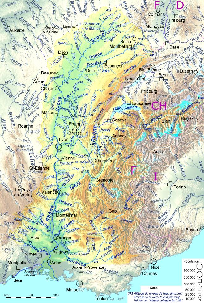 karte rhonetal frankreich Rhone – Wikipedia
