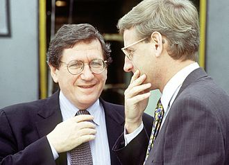 Richard Holbrooke - Holbrooke and Carl Bildt before peace talks in Sarajevo, Bosnia-Herzegovina in October 1995.