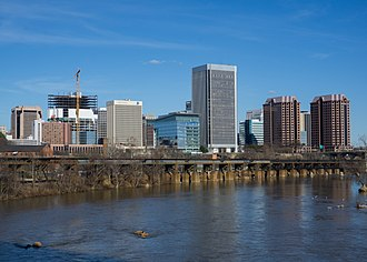 Downtown Richmond, Virginia - Skyline from the James River