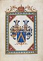 Ritterstandsdiplom - Cuvelier von Ostwik 1837 - Wappen.jpg