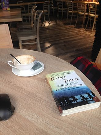 River Town: Two Years on the Yangtze - A copy of Peter Hessler's book River Town in a Fuling restaurant