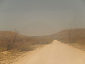 Crane County, Texas - Road to Castle Gap between Crane and McCamey, Texas
