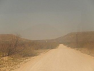 Crane County, Texas - Road to Castle Gap between Crane and McCamey, Texas