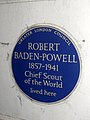 Robert Baden-Powell 1857-1941 Chief Scout of the World lived here.jpg
