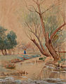 Robert Jenkins Onderdonk - Landscape with Figure and Stream (1897).jpg