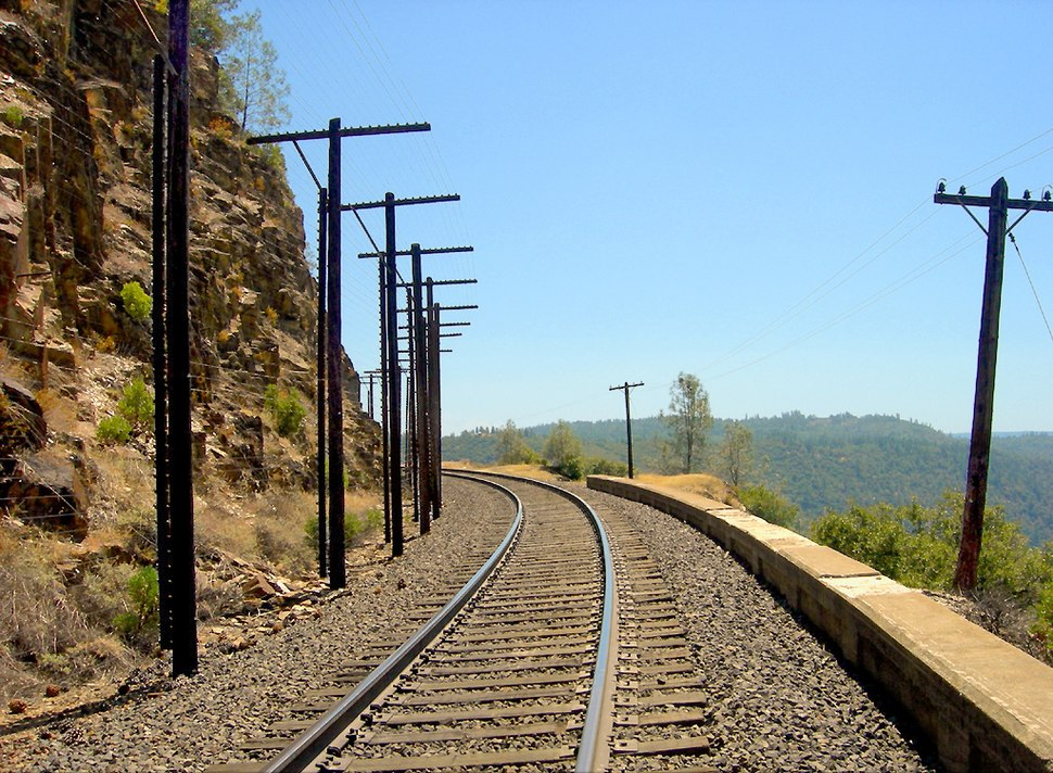 "Rock slide detector UPRR Sierra grade at ""Cape Horn"", Colfax, CA"
