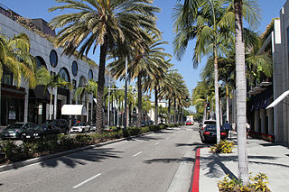 shopping district in Beverly Hills, California
