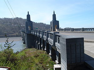 Isaac Lee Patterson Bridge over Rogue River in Gold Beach