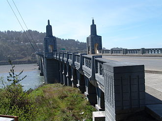 Gold Beach, Oregon - Isaac Lee Patterson Bridge over Rogue River in Gold Beach