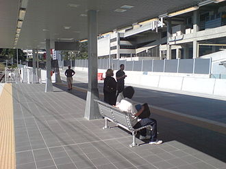 Roma Street busway station - Image: Roma St Busway Inbound