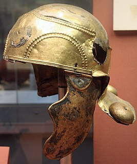 cavalry helmet from the first century AD