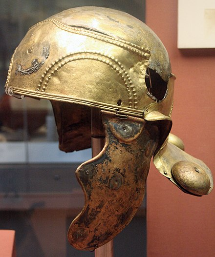 The Witcham Gravel helmet in the British Museum