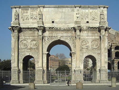 Konstantinov slavoluk u Rimu iz 312. g. je najveći rimski slavoluk: 21 x 25.7 x 7.4 m.