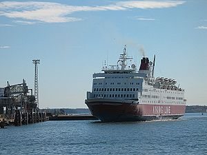 SF Line - M/S Rosella, the longest serving ship of Viking Line, arriving in Helsinki in summer 2003