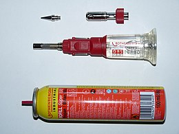 Rothenberger Industrial gas soldering iron disassembled.JPG