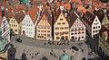 Rothenburg Marktplatz Blick vom Rathausturm 2014.jpg