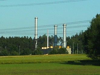 MEGAL pipeline - Natural gas compressor station at Rothenstadt