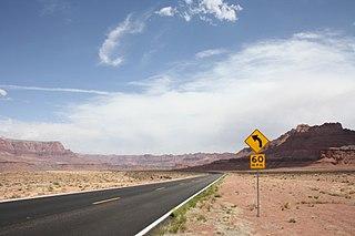 U.S. Route 89A Highway in Arizona and Utah