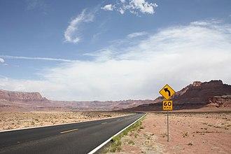 U.S. Route 89A - US 89A near Navajo Bridge